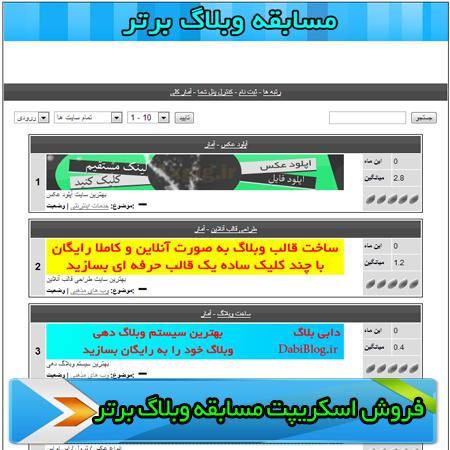 اسکریپت مسابقه وبلاگ برتر